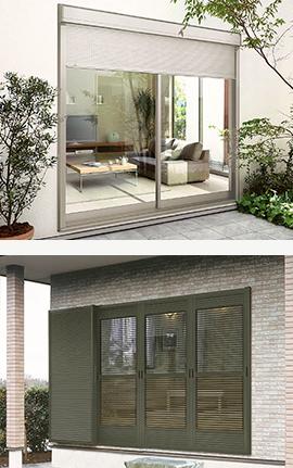 玄関ドア、引戸・窓サッシ・シャッター・雨戸 事例